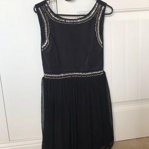 Juniors black formal dress